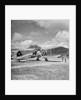 Fairey Swordfish I torpedo bomber reconnaissance biplane aircraft K8386, code 945, of 824 Squadron Fleet Air Arm, on Kai Tak airfield, Hong Kong by David Watkin Waters