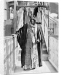 Mubarak Al-Sabah (Sheikh of Kuwait from 1896-1915) standing on a bridge by unknown