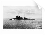 Battleship HMS 'Warspite' (1913) under way at sea off Cape Wrath in June 1943 by unknown