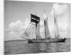 'Mary Millar' 3 masted topsail schooner, at sail off Mevagissey bound for Runcorn with a cargo of china clay by unknown