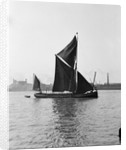 'Pimlico' (Br, 1914) spritsail barge, under sail off Greenwich by unknown