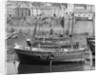 'Jane' Mevagissey lugger, dried out in Mevagissy harbour by unknown
