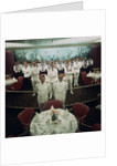 The restaurant staff on the Union-Castle cruise ship 'Windsor Castle' gather for a group photograph by Marine Photo Service