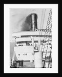 Decks and funnel view of 'Caronia' by Marine Photo Service