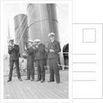 Four P & O cadets of the 'Viceroy of India' (1929) on the starboard side of the Bridge Deck with their sextants by Marine Photo Service