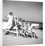 Children's hostess and junior passengers aboard 'Chusan' by Marine Photo Service