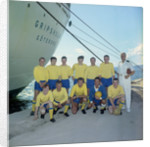 The 'Gripsholm's' crew football team by Marine Photo Service