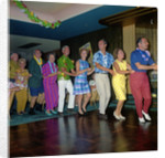 Dancing the Conga onboard the 'Gripsholm' (1957) during a West Indies cruise by Marine Photo Service