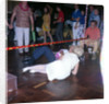 Passengers go under the limbo pole aboard the liner 'Gripsholm' by Marine Photo Service
