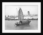 A junk in Hong Kong harbour, 1933 by Marine Photo Service