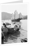 Sampans and a fishing junk, Hong Kong, 1935 by Marine Photo Service