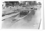 Bamboo raft, Java, Indonesia, 1925 by Marine Photo Service