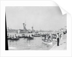 Dghajsas in Grand Harbour, Valletta, Malta, 1931 by Marine Photo Service