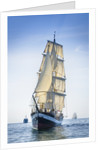 Mainmast brigantine 'Pelican of London' during Waterford Tall Ships Race 2011 by Richard Sibley