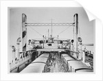 Train Ferry No. 1 (1917) Train deck with trains taken on board by unknown