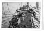 With the 'Triumph' paced to the gunwales with mangrove poles for the voayage home to the Gulf, her crew had to sleep where they could by Alan Villiers