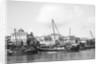Booms anchored along the waterfront at Mombasa, Kenya by Alan Villiers