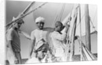 Captain and crew of the 'Sheikh Mansur' by Alan Villiers