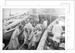 Sailors hoisting the main yard by Alan Villiers