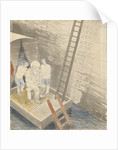 The Submarine Series: The diver by Eric Ravilious