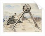 Tirpitz' 6.7.45 starboard propeller bracket and shaft by Stephen Bone