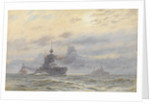 HMS 'Princess Royal' and New Zealand by Alma Claude Burlton Cull