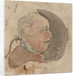 Profile of a middle-aged man with a pigtail by Gabriel Bray