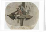 A Marine & Seaman fishing off the Anchor on board the Pallas in Senegal Road by Gabriel Bray