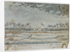 A View of Fort Apolonia & the canoe landing the officer thro' the Surf, March 1775 by Gabriel Bray