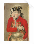 A man in a red frogged coat and tassled cocked hat by Gabriel Bray