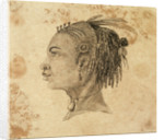 Head of a West African woman in left profile by Gabriel Bray