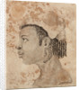 Head of a West African woman, wearing a hat, in left profile by Gabriel Bray