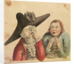 Two male figures, one with a large cocked hat and a quizzing glass by Gabriel Bray