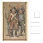 Three soldiers in uniform by Gabriel Bray