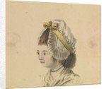 Head of a woman in a frilled cap by Gabriel Bray