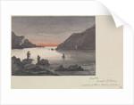 The arrival of HMS 'Pearl' and 'Sylvia' at Sakitsu Ura, Amakasu Island, Japan by James Henry Butt