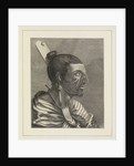 Head of a New Zealander, with a comb in his hair by Sydney Parkinson