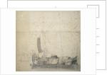 Study of a wijdschip lying at a buoy by Willem van de Velde the Elder