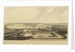 A view of the East India Docks by William Daniell