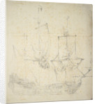 Portrait of a Dutch frigate by Willem van de Velde the Elder