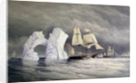 HMS 'Phoenix', 'Talbot' and 'Diligence' passing a remarkable iceberg by Edward Augustus Inglefield
