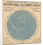 Diagram of the comet of 1858, discovered by Donati, 2 June by Waller & Deacon