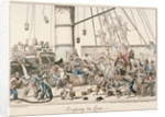 Crossing the Line by George Cruikshank