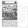 1588 Armada Playing Cards, IIII of Spades. 'Queene Eliz. Riding in Triumph through London in a Chariot drawn by two Horses and all ye Companies attending her wth their Baners' by unknown
