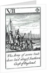 1588 Armada Playing Cards, VII of Diamonds. 'The Army of 20000 souldiers laid along ye Southern Coast of England' by unknown