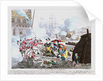 Die blutige Schlacht von Algier, den 26 August 1816 by Johann Michael Voltz