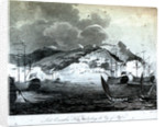 Lord Exmouth's Fleet bombarding the City of Algiers by Craig