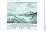 Print of Lord Exmouth's fleet at the City of Algiers, 27th August 1816 by de Bourville