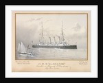 HMS 'Gladiator' launched at Portsmouth 8 December 1896 by H. Coish