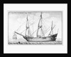Navis Mercatoria Hollandica vulgo Vliet by Wenceslaus Hollar